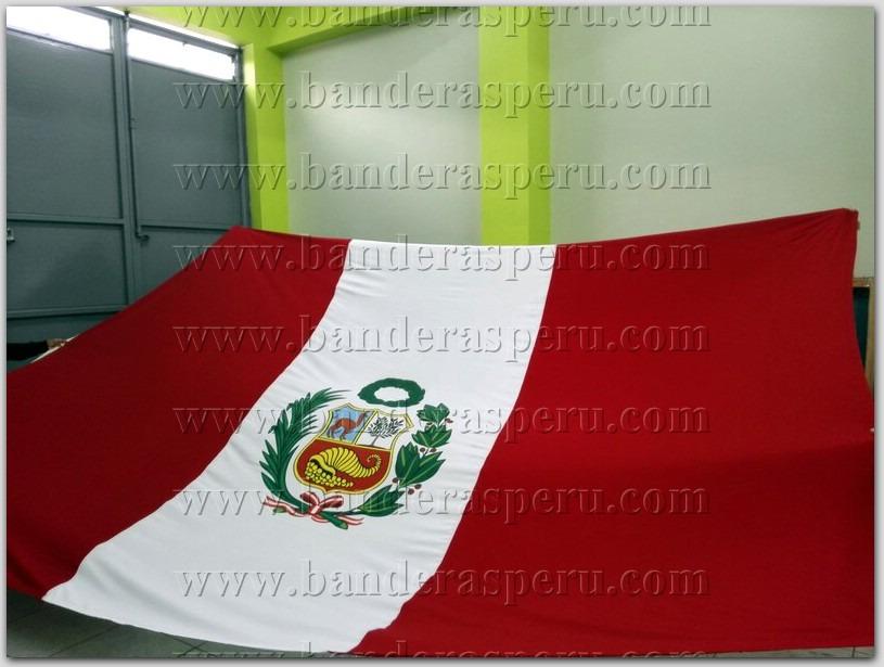 Bandera De Peru Con Escudo Venta De Banderas