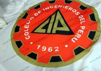 Banderas institucionales bandera de Colegio de Ingenieros del Perú