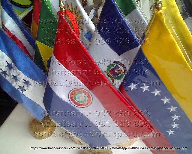 Confeccion banderas para escritorio de paises