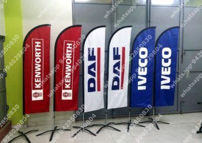 banderas tipo pluma IVECO
