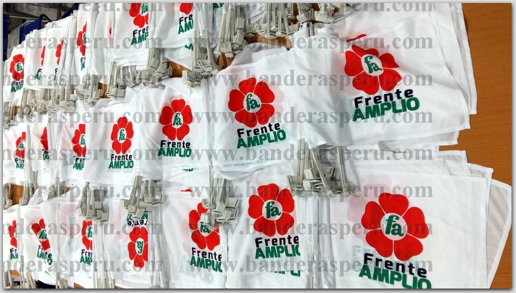 Confeccionamos banderas para campañas políticas