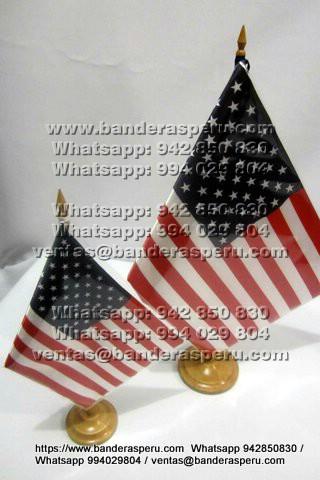 Confeccion banderas para escritorio de usa