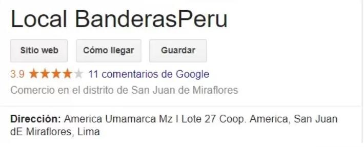 Confección de banderas publicitarias en Perú