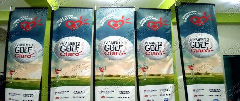 Banderas Verticales Claro Golf Banderas Perú