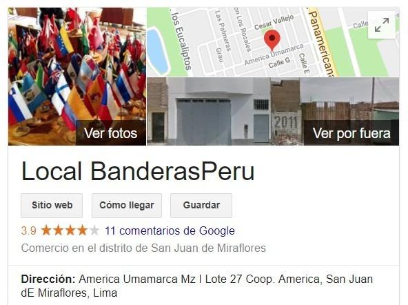 Local BanderasPerú, venta de banderas publicitarias