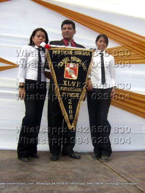 Estandarte Bordado de Ecuador y estandarte bordado de Colombia
